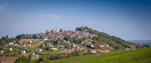Chateau de Sancerre - View on the village of Sancerre