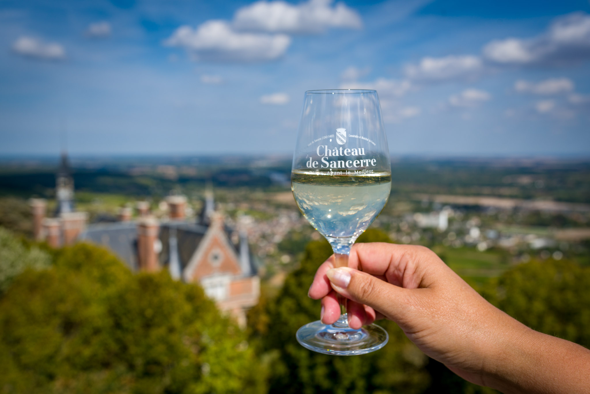 Chateau de Sancerre - Glass at the top of the Fiefdom Tower