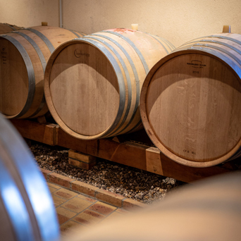Chateau de Sancerre - Barrels used to raise certain wines